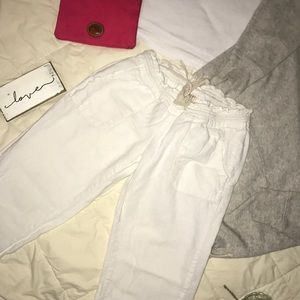 ROXY LINEN WHITE PANTS 🦋